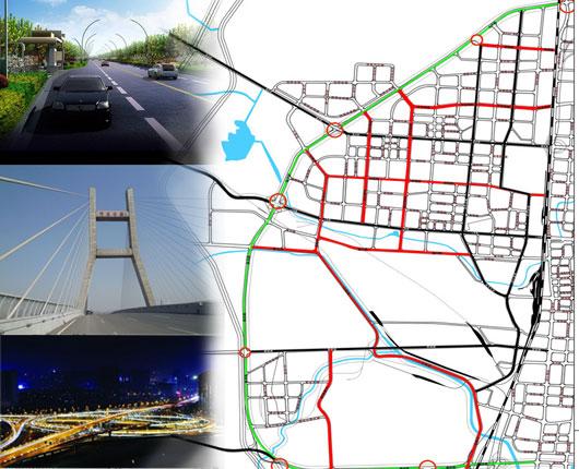 复兴区内路网密集,相比邯郸市其他两区车辆密度小图片